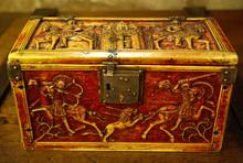 Coffret byzantin orné de scènes de chasse